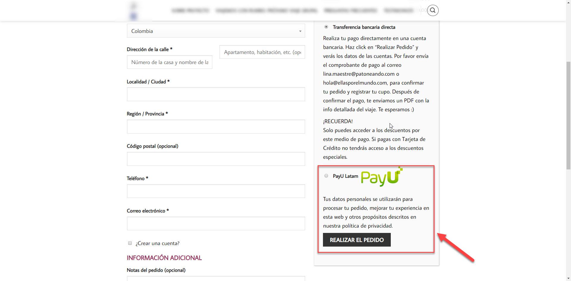 Verificar configuracion PayU Latam en WooCommerce 1